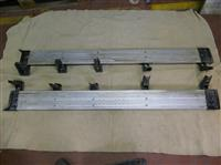 Left and right running board set